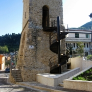 Scala in acciaio Cor-Ten - Torre Campanaria