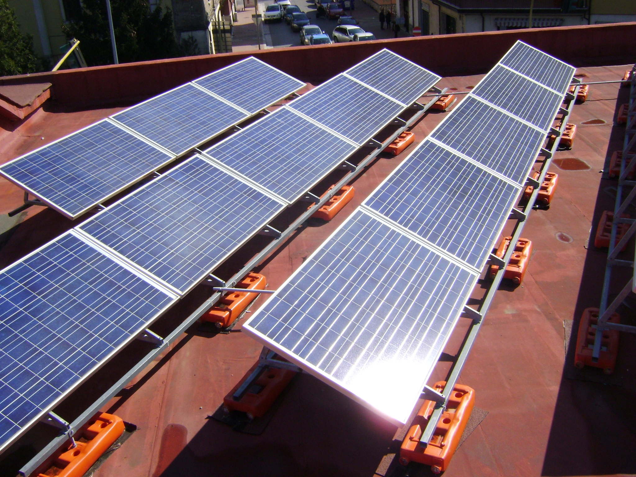 Supporto metallico fotovoltaico