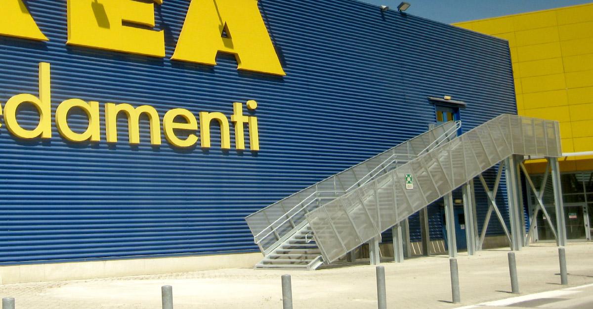Ikea Afragola Scale di Emergenza