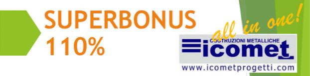 Banner Icomet Costruzioni Metalliche Superbonus 110%
